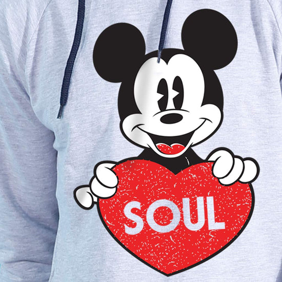 Soul Mate Disney Grey Hoodies For Couples