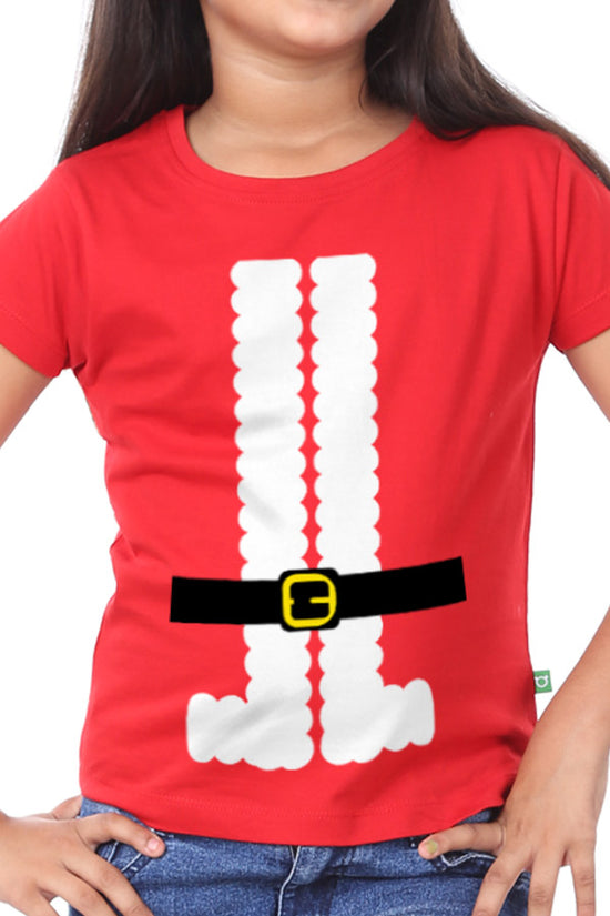 Santa's Belt, Sister And Sister Matching Tees