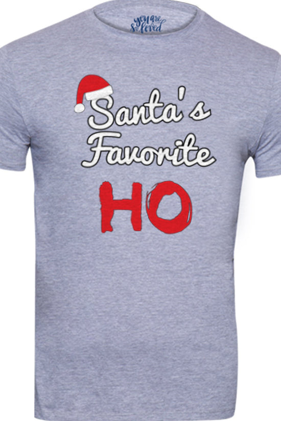 Santa's Favorite Ho, Dad And Baby Bodysuit And Tee