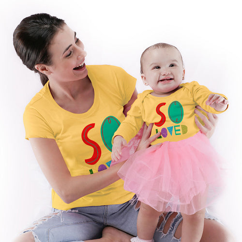 So Loved Mom & Baby Bodysuit And Tees