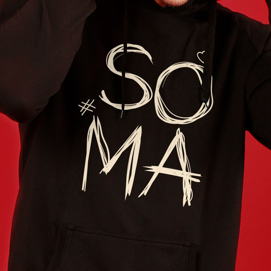 Soul Mate, (Black) Matching Hoodie And Crop Hoodie For Couples