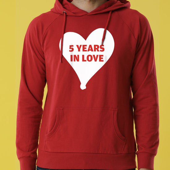 5 Years Together Personalised Hoodies For Couples