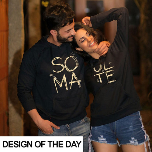 Soul Mate (Black) Matching Hoodies For Couples