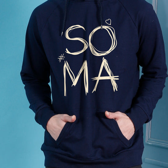 Soul Mate Navy Blue Matching Hoodies For Couples