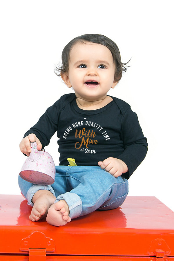 more quality time matching mom and baby new years tee and bodysuit for