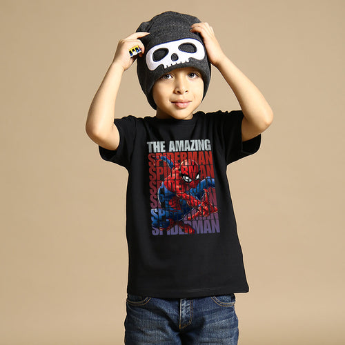 The Amazing Spiderman, Marvel  Black Kids Tees