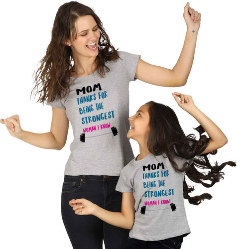Strongest Women I Know Mom & Daughter Tees