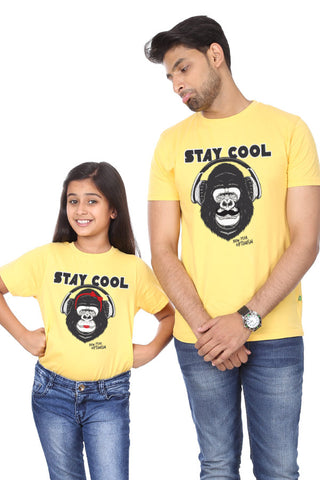 Stay Cool, Matching Dad And Daughter New Years Tees