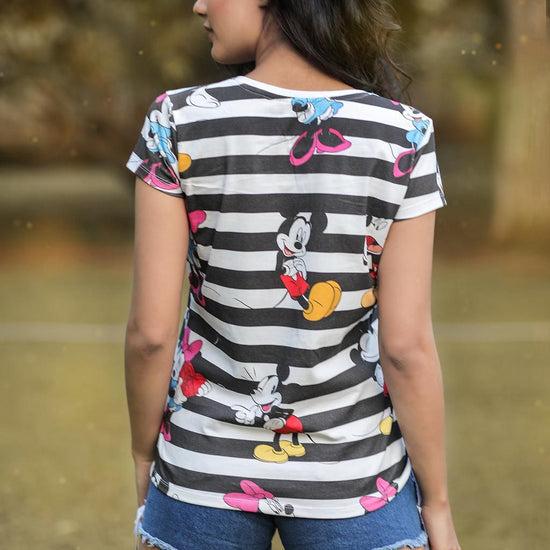 Mickey And Minnie, Disney Tee For Women