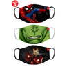 Mighty Avengers Printed Protective Masks( Set Of 3)