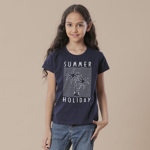 Summer Holiday, Matching Travel Tees For Girl