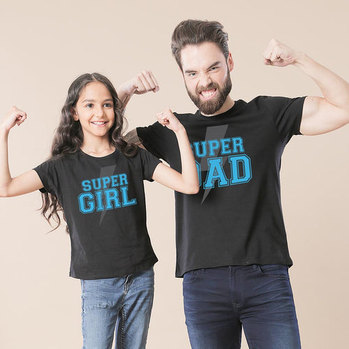 Super Dad Girl Father And Daughter Tshirt