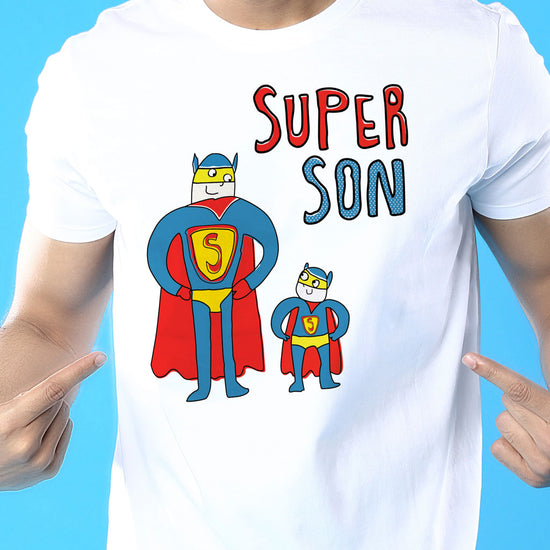 Super Guys Dad And Son Matching Adult Tees