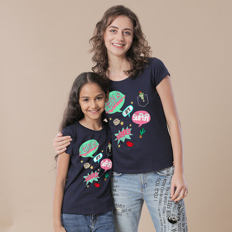 Super Heroes Mom & Daughter Tees