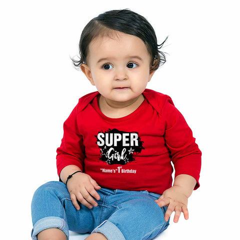 Super girl 1st Birthday Tee