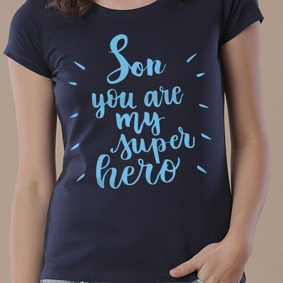 Superheroes, Mom And Son Matching Tees