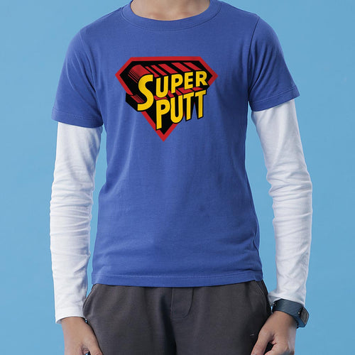 Super Pyo/Putt, Matching Punjabi Tees For Dad And Son