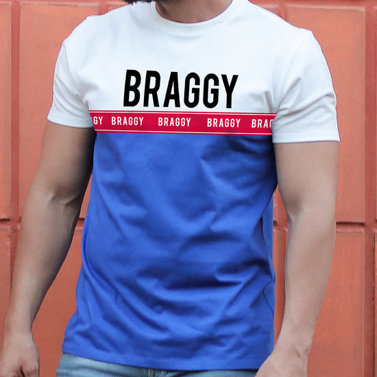 Braggy/Swaggy, Matching Couple Crop Top And Tee