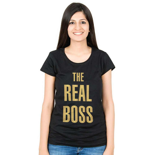 The Boss The Real Boss Mom Baby Bodysuit And Tees