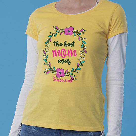 The Best Mom Ever, Personalized Tee For Mom