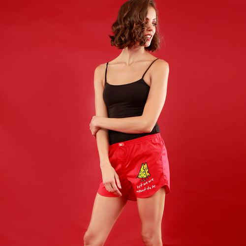 This Might Sound Chessy/ But We Are Meant To Be, Matching Red Boxers For Women