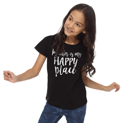 Together Is My happy Place Dad & Daughter Tees For Daughter