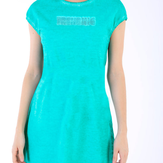 Teal Blue Trending Shift Dress For Women