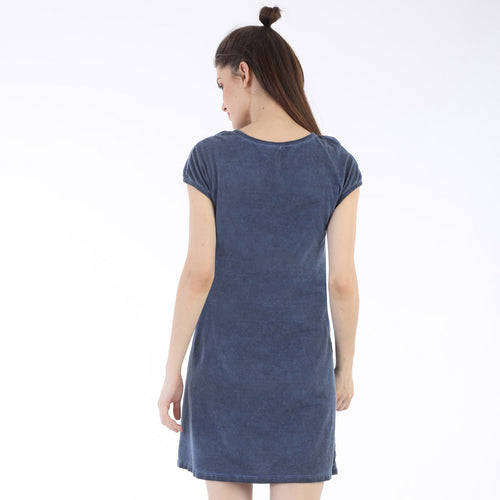 Somber Blue trending Shift Dress For Women