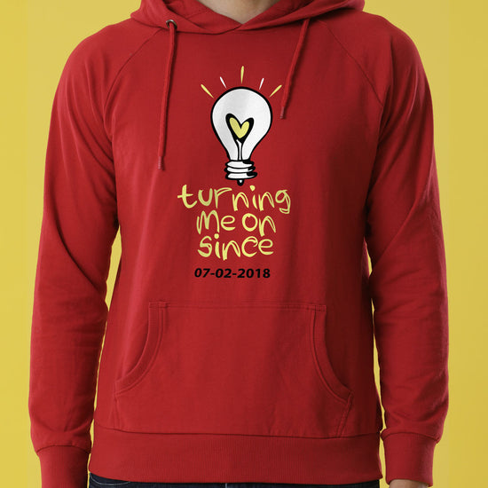 Turning Me On Personalised Hoodies For Couples