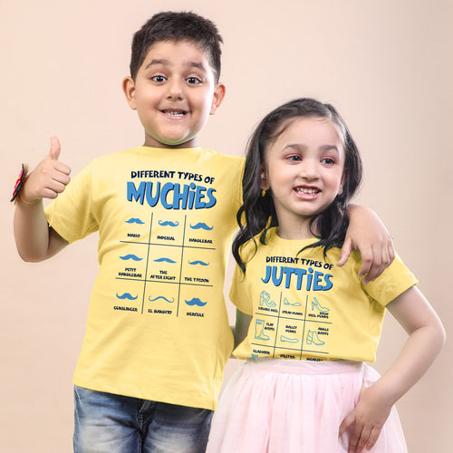 Types Of Muchies/Jutties Bro & Sis Tees