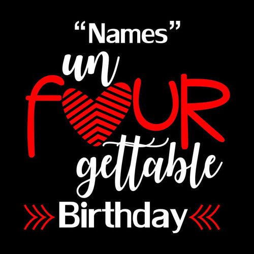 Four Gettable Birthday Boy Tee
