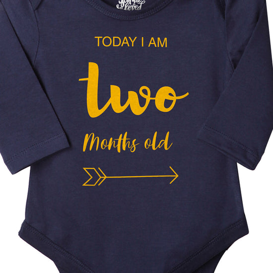 Today I Am 2 Months Old, Bodysuit For Baby