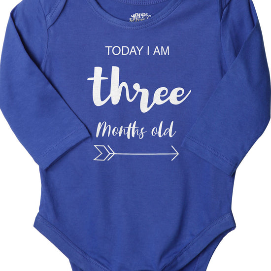 Today I Am 3 Months Old, Bodysuit For Baby