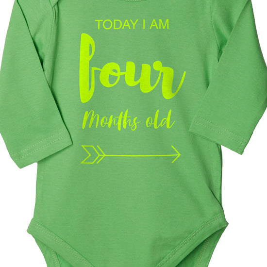 Today I Am 4 Months Old, Bodysuit For Baby