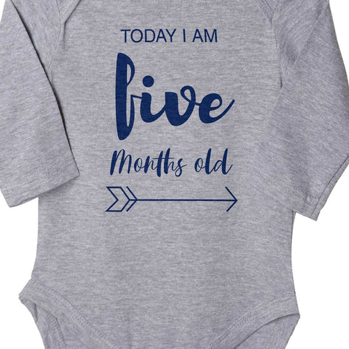 Today I Am 5 Months Old, Bodysuit For Baby