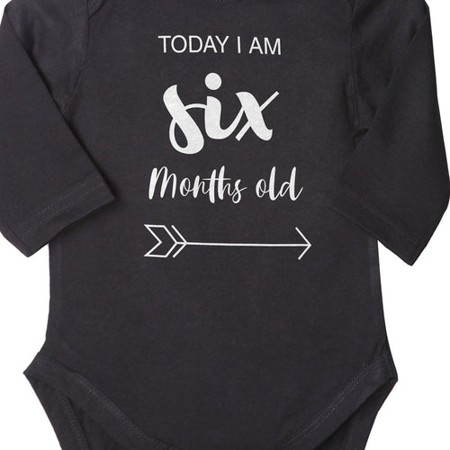 Today I Am 6 Months Old, Bodysuit For Baby
