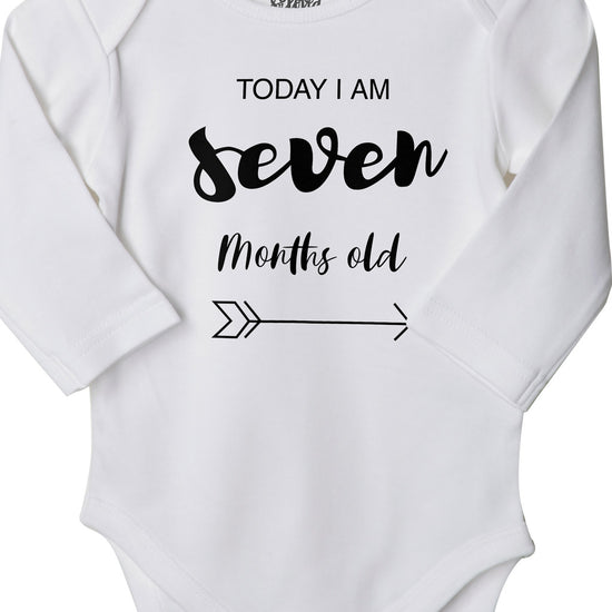 Today I Am 7 Months Old, Bodysuit For Baby