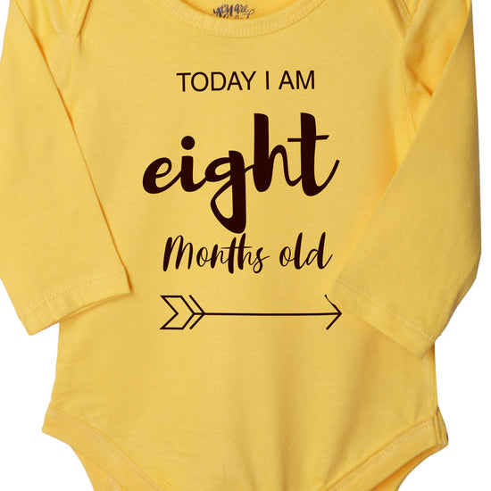 Today I Am 8 Months Old, Bodysuit For Baby