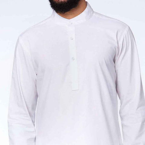 Snowy White kurta pyjama set with for father son