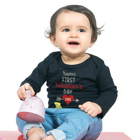 First Valentine's day,  Personalized Bodysuit For Baby