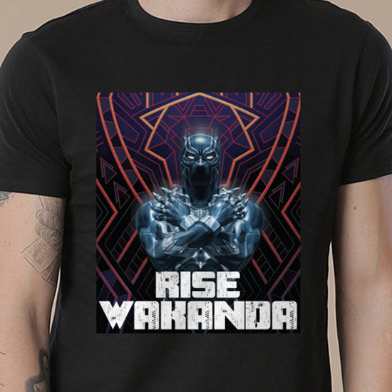 Rise Wakanda, Matching Marvel Tees For Dad And Son