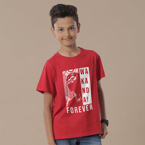 Wakanda Forever (Red), Marvel Tees For Boy