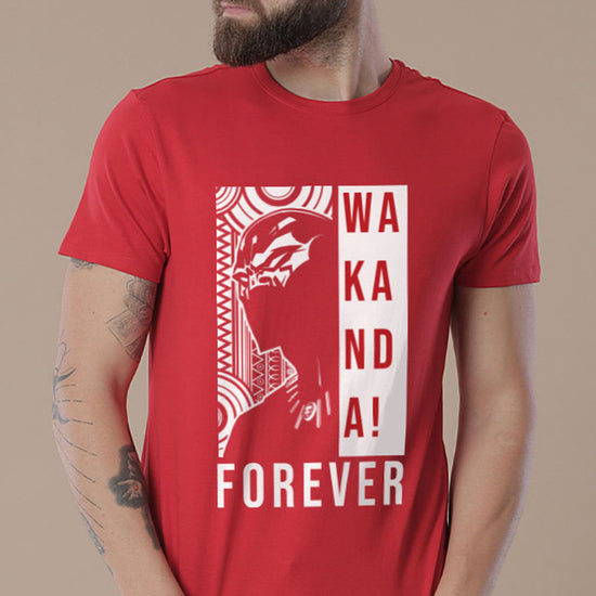 Wakanda Forever (Red), Matching Marvel Tees For Dad And Son