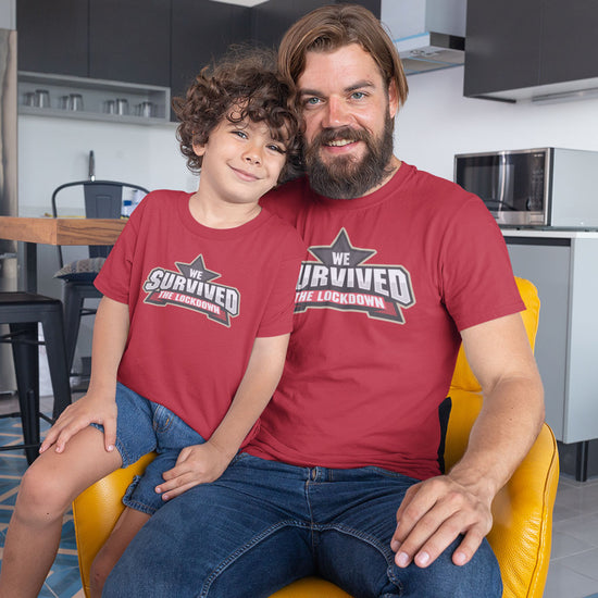 We Survived The Lockdown Matching Dad And Son Tees