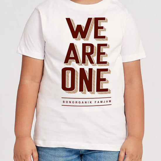 We Are One,  Off-White Matching Dad And Son Tees