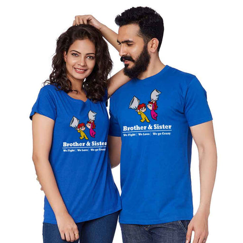 Brother & Sister Fight, Love And Crazy Adult Siblings Tee