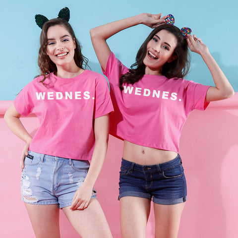 WEDNES., Crop Tops For Bffs