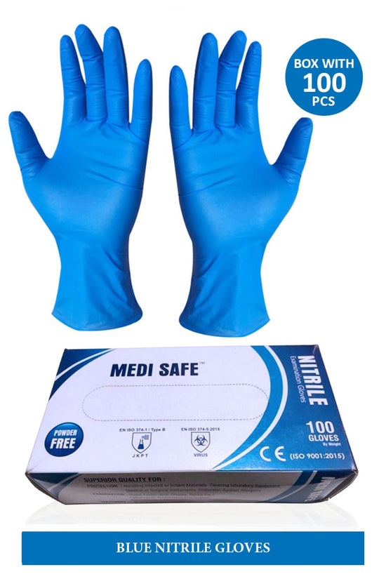 Medi Safe Nitrile Gloves 100pcs