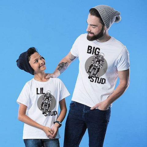 White Big/ Lil Stud Father-Son Tees