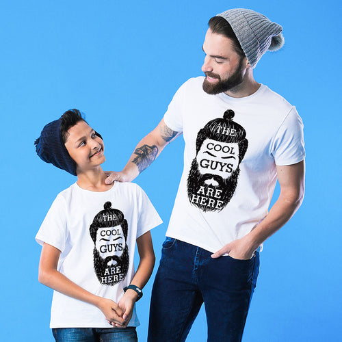 White Cool Guys Dad And Son Tshirt
